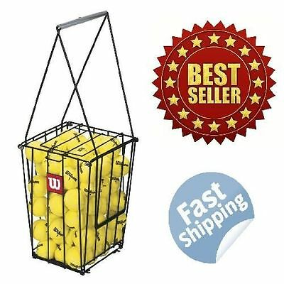 NEW Portable tennis ball basket 75 Tennis Ball Pick Up Hopper FAST FREE SHIPPING
