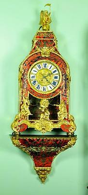 Monumental Boulle Clock On Original Bracket Console
