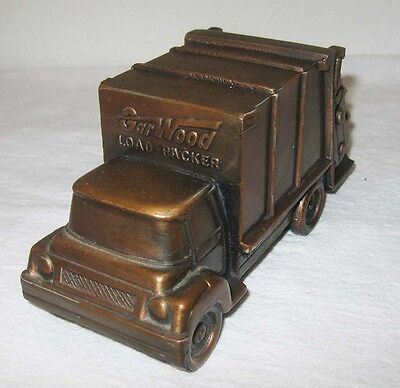 1960s Promotional Coin Bank Paper Weight Garwood Load Packer Garbage Truck