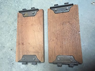 Wood short bed rails for display of head and foot board 1 pair Antique Mounts