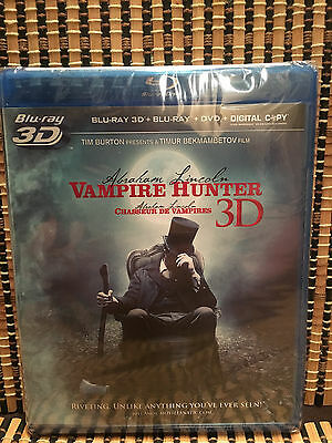 Abraham Lincoln: Vampire Hunter 3D (3-Disc Blu-ray/DVD, 2012)