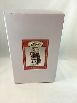Department 56 Possible Dreams Stocking Up Santa #4050059D NIB Free US Shipping