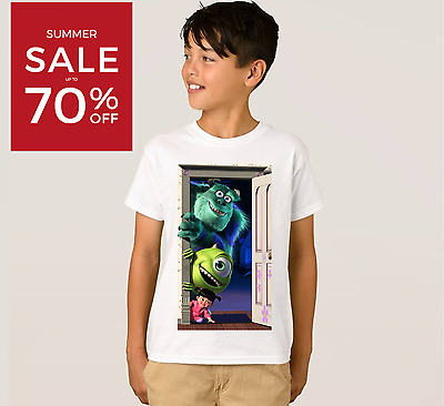 Boys Kids Children Monster Trolls T-Shirt Short Sleeve Tee Shirt Top 3-10 Years