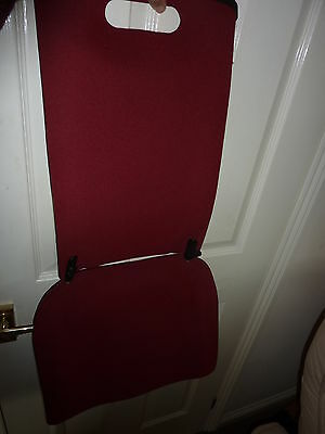 Back Friend Chair Support for chairs/car portable Dark Red
