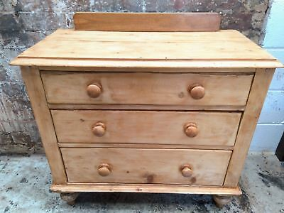 Victorian pine chest of drawers turned legs. Free delivery BB & PR postcodes.