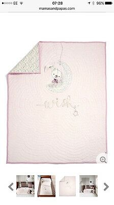 Mamas And Papas Mille And Boris Pink Cotbed Coverlet