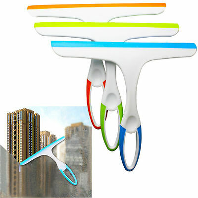 EASY GRIP Stainless Window Wiper Tile Cleaner Squeegee for Glass Shower CAR W4