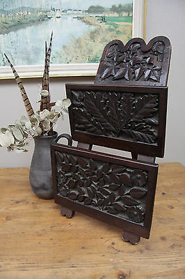 Newspaper Holder Antique Wooden Letter rack, Tupham Ware
