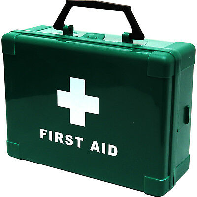 Qualicare Quality Empty Standard Small 1-5 Person First Aid Kit Box Green