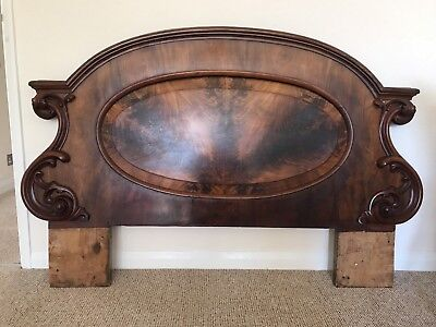 Superb Antique Flame Mahogany Headboard