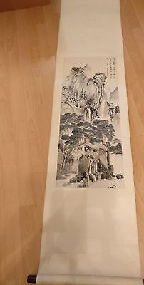 Brand New  Oriental Water Colour Scroll Painting
