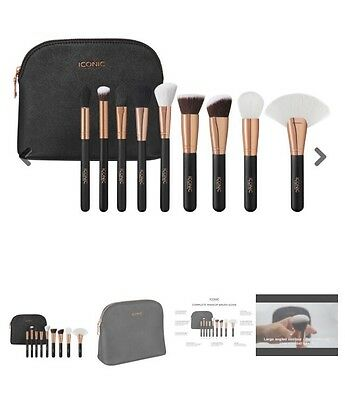 Iconic London Makeup Brushes And Bag