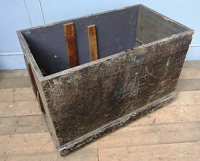 Large Antique pine Chest / Trunk