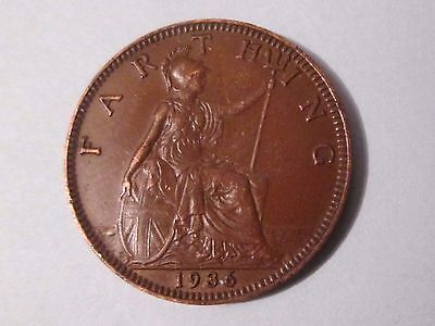 1936 George V  Farthing Coin