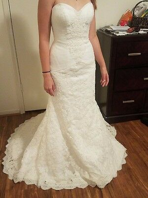 DAVID\'S BRIDAL WEDDING Dress Never Used With Tags (plus Size ...
