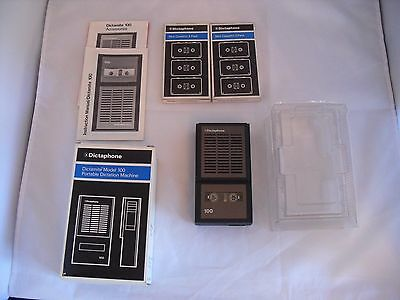 Dictaphone Dictamite model 100 w/ extra cassettes in working condition