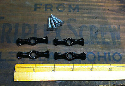 4 Jelly cupboard cabinet bow tie latches vintage antique cast iron 1 3/4""