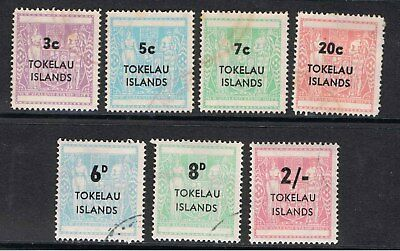 Tokelau Islands 1966 & 67 New Zealand Stamps Overprinted