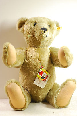 Steiff bear 0155/60, ear tag plus other tags, 60cm, late 20th cent, West Germany