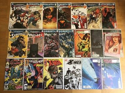 Modern Comic Lot 20 Books! Marvel, DC 1 NM Superman, Batman, X-Men, Wolverine