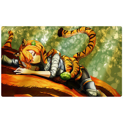 FREE SHIPPING Custom Yugioh Playmat Zoodiac Barrage Mat RATE-EN052 Tigermortar 2