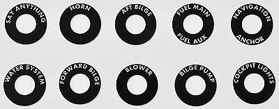 For Grady White Boat - Ten round Metal custom toggle switch labels