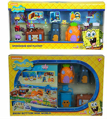 Spongebob Mini World Playsets, Mini Playset Triple Pack
