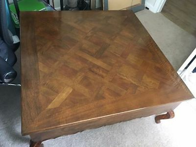 Large Parquet Coffee Table French Provincial Style