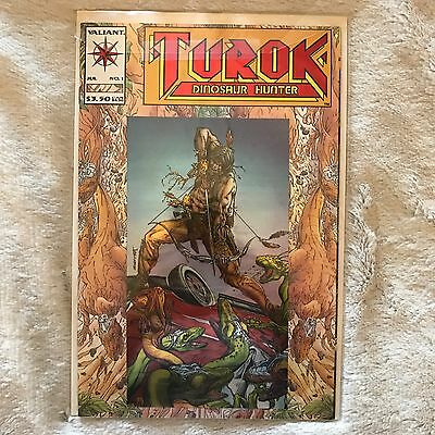 Turok Dinosaur Hunter-Valiant Comic Book #1 (Modern Age)1993  FREE BAG AND BOARD