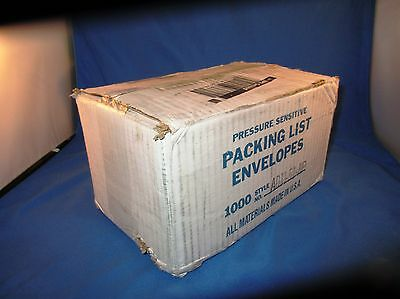 box of 1000 pressure sensitive packing list envelopes style ADM-51-NP new