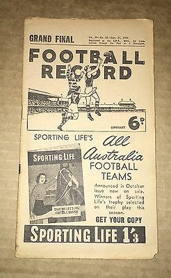 1952 Grand Final Football Record - Geelong V Collingwood - Very Good Condition