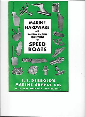 VINTAGE 1953 Debbold's Marine Hardware and racing equipment price list and parts