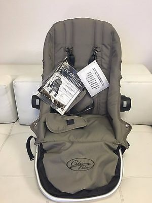 Baby Jogger City Select Replacement Canvas Seat Stroller & Canopy Hood Quartz