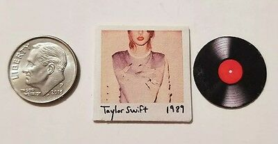 """Dollhouse Miniature Record Album 1"""" 1/12 scale Barbie Taylor Swift 1989 Country"""