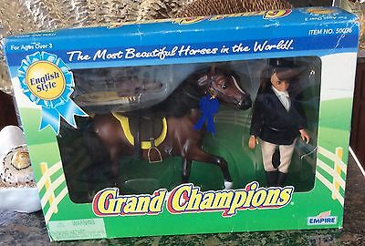 Grand Champions Horse Set English Rider Trakehner Stallion VTG 95 NIB RARE 50036