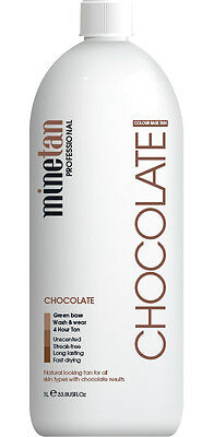 Mine Tan Professional Chocolate 1L Solution 4hr - 10% DHA MineTan