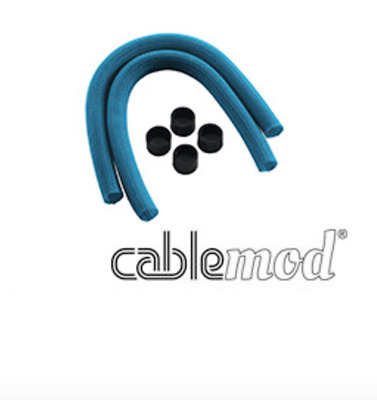 NEW CableMod AIO Sleeving Kit for Corsair Hydro Light Blue