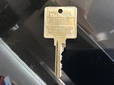 Vintage The Pointe Gosnell Developement Hotel Room Key