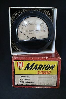 Vintage electrical - D C Microamperes - 0 to 100 - NOS - Marion Electrical Instr
