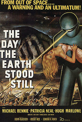 The Day the Earth Stood Still (1951) 24x36 inch Movie Poster Robert Wise Sci-Fi