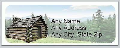 30 Personalized Address Labels Primitive Country Cabin Buy 3 get 1 free (ac 650)