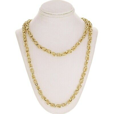 "14K Yellow Gold Handmade Turkish Chain Necklace 30"" 5mm 54-55 grams"