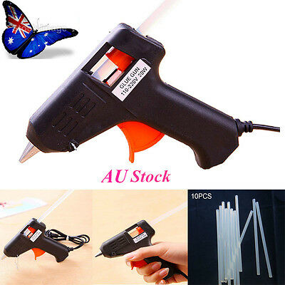 AU Electric Art Craft Repair Tool 20W Electric Heating Hot Melt Glue Gun Stick