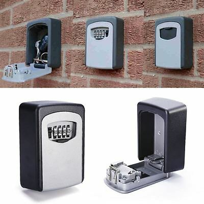 4 Digit Outdoor Wall Mounted Key Safe Box Code Security Secure Lock Combination