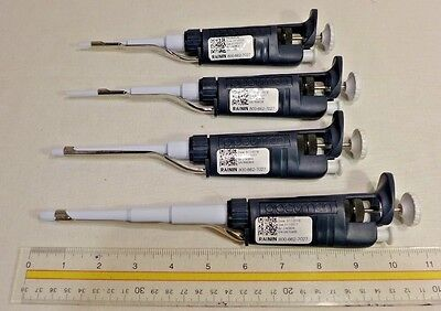 Rainin Pipette Set of 4: P2, P20, P200, P1000 >>MANUF REFURBISHED & CALIBRATED<<
