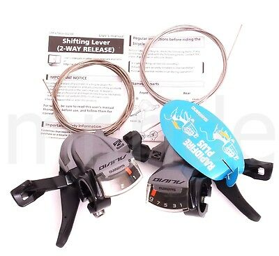 Shimano Alivio M4000 Rapid Fire Plus 3x9Speed Shifters Set W/Cable for MTB Bike
