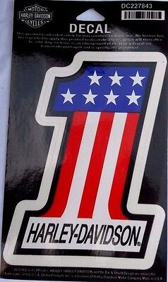 Harley Davidson Auto/Truck Decal/Sticker #1 American Flag Design Old AMF Style