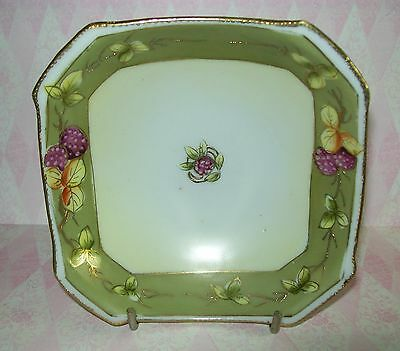 ANTIQUE I E & C Co MEIJI / ART NOUVEA 8-sided BOWL with gold trim (1890-1910)