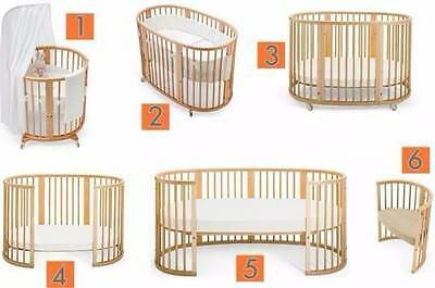 Stokke Sleepi - Mini Cot, Crib, Toddler/Junior Bed - Canopy and heaps of extras!