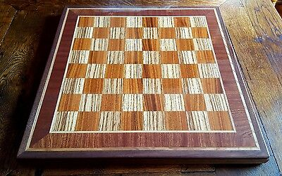 Wooden Zebrano and rosewood chess board